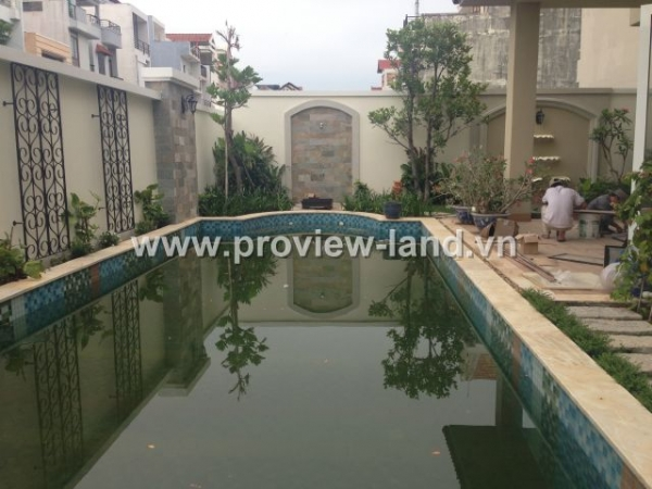 Sell  Thao Dien villa in District 2, Nguyen Van Huong stresst 1800m2
