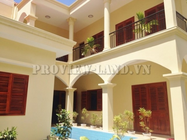Villa Thao Dien for rent in Thao Dien with nice garden and swimming pool, 4 bedrooms