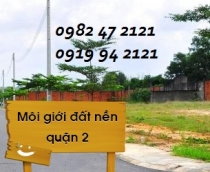 Selling land cheap price in District 2 at Tran Nao with nice and prime location