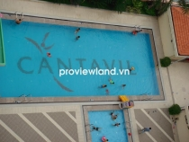 Cantavil An Phu apartment for rent high floor 97sqm 2BRs living room with balcony