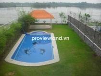 Biệt thự khu Compound cần cho thuê 800m2 1 trệt 2 lầu view sông Sài Gòn