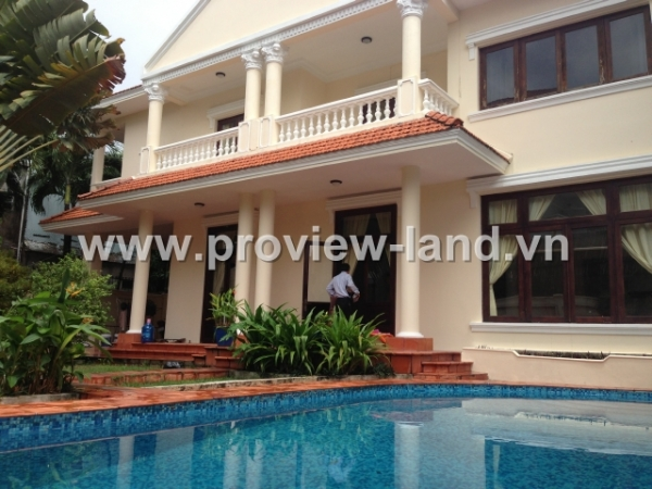 Cho thuê biệt thự Thảo Điền Quận 2 giá chuẩn có sân vườn và hồ bơi
