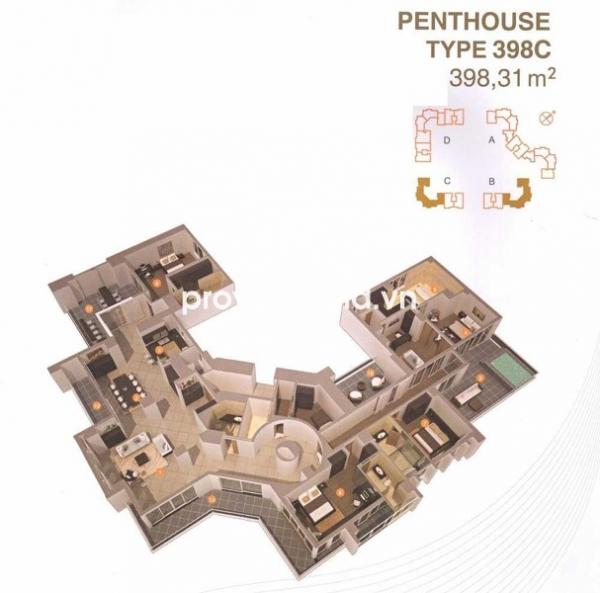 Bán căn hộ 398m2 4PN Penthouse Imperia An Phú ban công rộng view thoáng