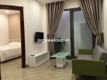 Serviced apartment for rent on Nguyen Cu Trinh 40sqm 1BRs quiet and close to nature