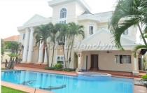 Biệt thự khu compound Trần Não cho thuê 7PN hồ bơi đẹp