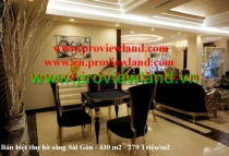Saigon Pearl villa for sale - riverside