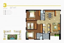 Cho thuê căn hộ quận 2 Lexington An Phú 97m2 3 phòng ngủ