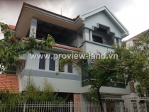 The villas in the compound for rent in Thao Dien area