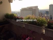 Căn hộ Hùng Vương tầng cao 130m2 3 phòng ngủ view hồ bơi có ban công cần cho thuê
