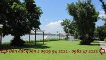 Bán đất mặt tiền Trần Não bờ sông Sài Gòn Trần Não quận 2 với DT 16x16m