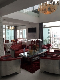 Penthouse apartment for rent in Hoang Anh Riverview 252sqm 3BRs nice decoration