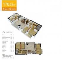 Căn hộ Cantavil Premier 176m2 4 phòng ngủ view hồ bơi